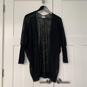 Community x Aritzia Black Open Sweater Cardigan